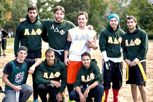 Alpha Delta Phi on the football field